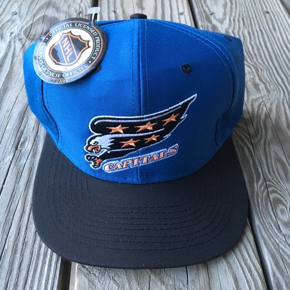59fb60b9ad6 ... hat adult osfa deadstock nwt 90s cee9c 34e64 greece washington capitals  vintage snapback 04e6a 37155 ...